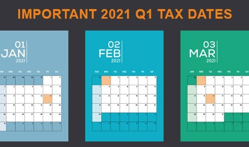 2021 Q1 Tax Calendar: Key Tax Deadlines for Businesses/Employers