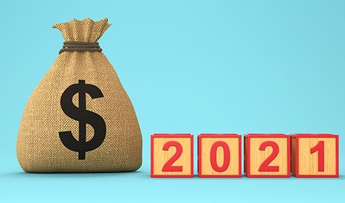 New Year 2021 Creative Design Concept - 3D Rendered Image